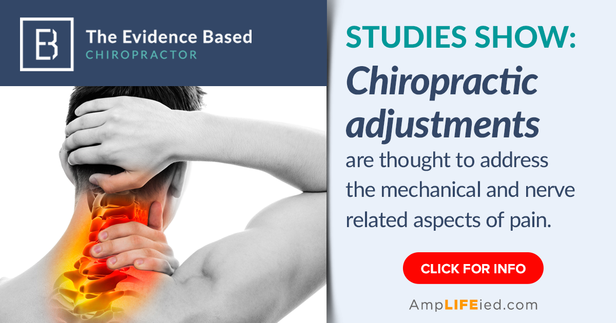 Chiropractic adjustments address the cause of the pain....